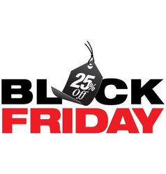Black Friday 25 Percent Off Sale vector image