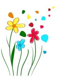 Children Draw vector image