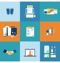 Business process icons set vector