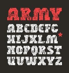 Serif font geometric form vector