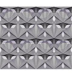 Monochrome ornamental pattern seamless art vector