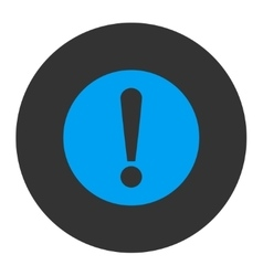 Problem flat blue and gray colors round button vector