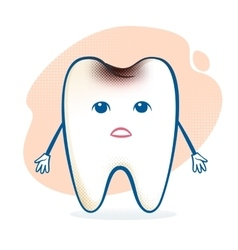Sick tooth character vector