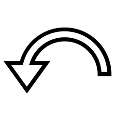 Rotate left outline icon vector