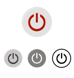 Set of power buttons vector