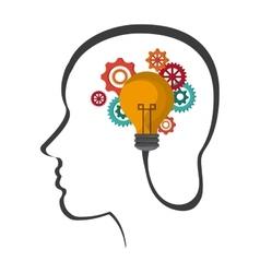 Human head icon thinking design graphic vector