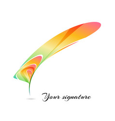 Abstract colorful stylized feather vector