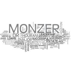 Adversities and leadership profile of monzer vector