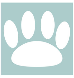 Animal footprint the white color icon vector