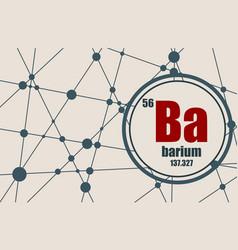 barium chemical element vector image vector image