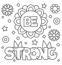 be strong coloring page vector image vector image