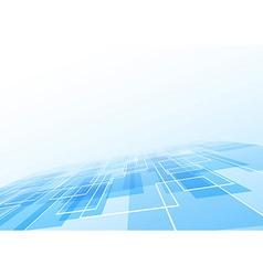 Blue tile lie perspective background vector image vector image
