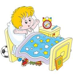 Boy waking up vector