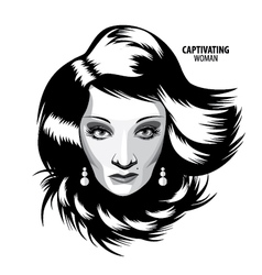 Captivating woman vector