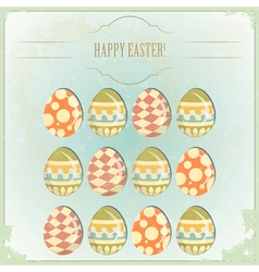 easter eggs - old postcard vector image