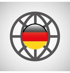 globe sphere flag germany country button graphic vector image
