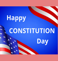 happy constitution day vector image