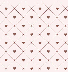 hearts on white background valentines day vintage vector image vector image