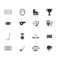 Hockey simply icons vector