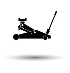 hydraulic jack icon vector image