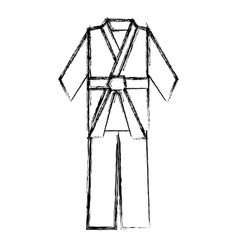 Karate belt wear vector