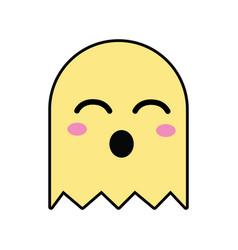 Kawaii cute funny videogame character vector