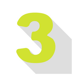 Number 3 sign design template element pear icon vector