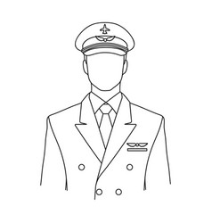 pilotprofessions single icon in outline style vector image
