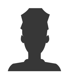 police officer silhouette icon vector image