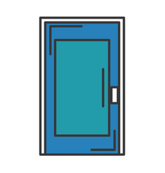 Room door isolated icon vector
