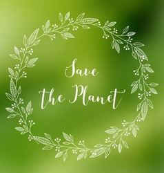 Save the planet banner vector