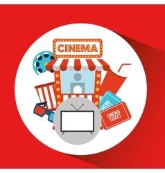 Screen tv movie cinema concept icons vector