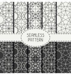 Set of geometric line lattice seamless arabic vector image