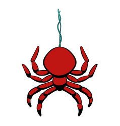 spider icon cartoon vector image