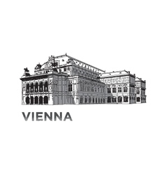 The sketch of State Opera House in Vienna vector image vector image