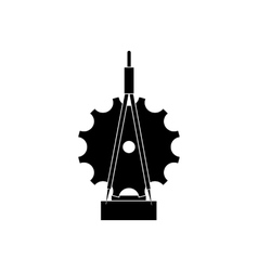 Trophy sign with compass icon black simple style vector