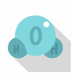 water molecule icon flat style vector image