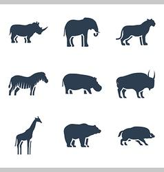 Wild animals icon vector