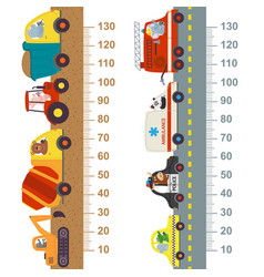 working and city transport height measure vector image vector image