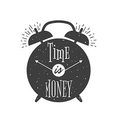 Alarm clock vintage typographic poster vector image