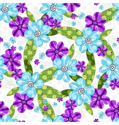 Floral seamless spring pattern vector
