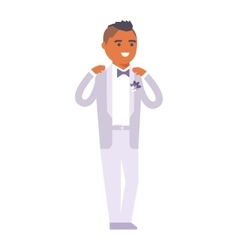 Wedding groom man isolated vector
