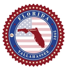 Label sticker cards of state florida usa vector