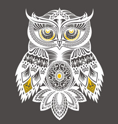 Owl decorative design for t shirt print vector
