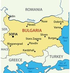 Map - republic of bulgaria vector