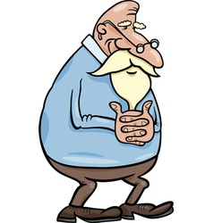 Senior grandfather cartoon vector