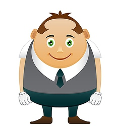 Thick happy office man vector