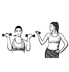 Fitness woman vector