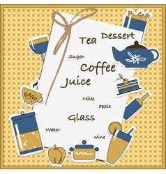 coffee card vector image