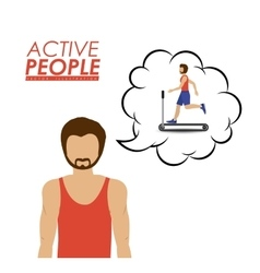 Active people design vector